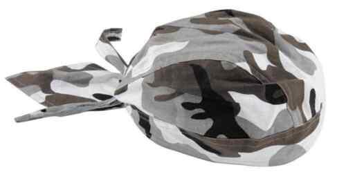 2014 Zan Headgear Motorcycle Riding Gear Urban Camouflage Flydanna Headwrap