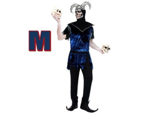 Smiffy's Corrupt Court Jester Men Fancy Dress Halloween Scary Custome