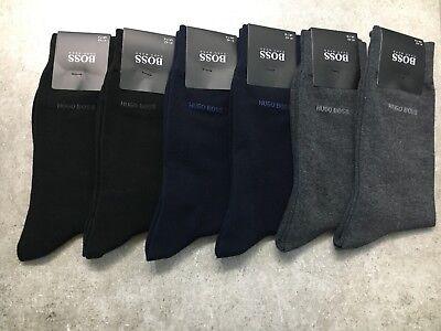 Hugo Boss Design Crew men dress Cotton Socks Black color size 7-9 5 pairs