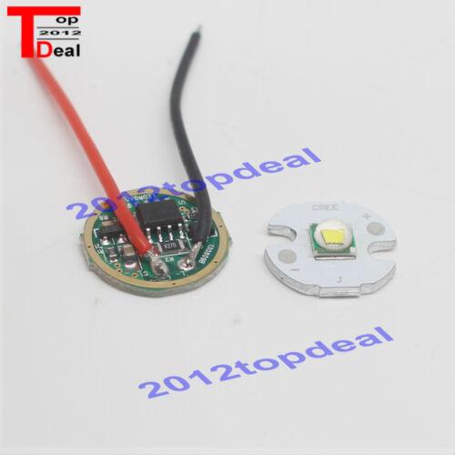 10W Cree XM-L T6 Cool White LED Light DC 3.7V 2.5A XML LED Dimmer Driver DIY