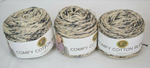 Lion Brand Comfy Cotton Blend Yarn-Cloud Nine 3 Pack