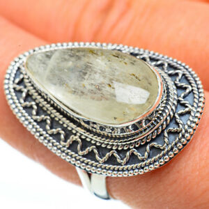 Large-Prehnite-925-Sterling-Silver-Ring-Size-9-Ana-Co-Jewelry-R45017F