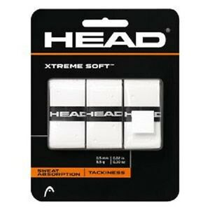 New HEAD XTREME SOFT Tennis Overgrip White 3 Pack Xtremesoft Over Grip-afficher le titre d`origine enwHOKD9-07163946-825502604