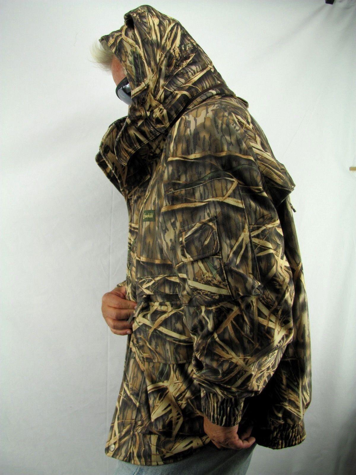Hunting Camo GAMEHIDE GAMEHIDE GAMEHIDE Hush Hide Mossy Oak Shodow Grass w/Hood Parka  XL H3 6fc2a1