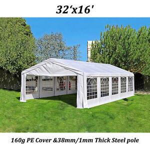 Image is loading Peaktop-32x16-Heavy-Duty-Carport-Party-Wedding-Tent- & Peaktop 32x16 Heavy Duty Carport Party Wedding Tent Canopy Gazebo ...