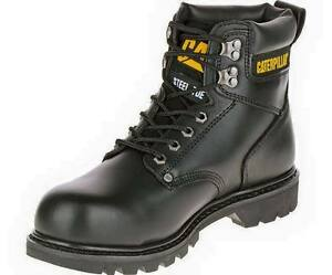 CATERPILLAR SECOND SHIFT STEEL TOE 89135 Black Non Slip work boots ...