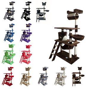 arbre chat griffoir grattoir peluche sisal 141 cm ebay. Black Bedroom Furniture Sets. Home Design Ideas