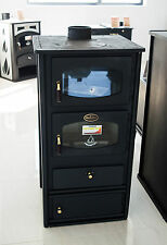 Wood Burning Stove with Oven Cast Iron Top Cooking Fireplace Solid Fuel 10kw