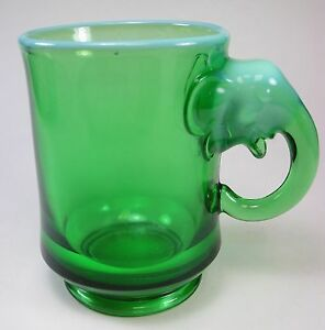 Heisey Imperial Westmoreland Dumbo Beer Mug 1974 EWR Green Opalescent RARE