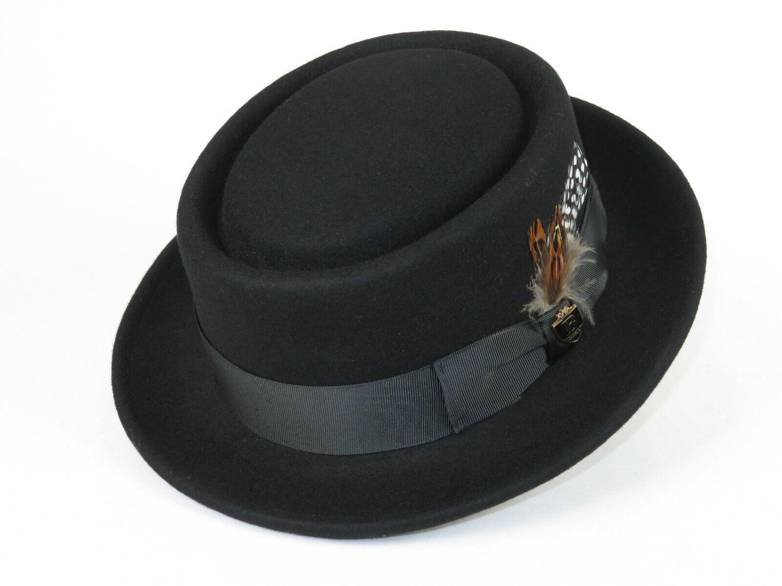 Mens 100 Wool Camel Pork Pie Hat Size Medium M 7 To 7 1 8 For Sale Online Ebay