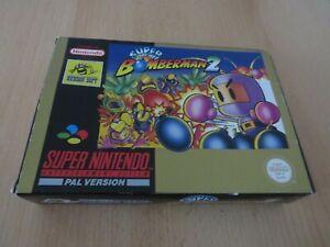 Super-Nintendo-Bomberman-2-Snes-complet-Coffret-PAL