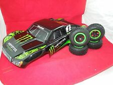 TRAXXAS SLASH  MONSTER ENERGY Body w ON BOARD AUDIO + 2WD WHEELS LIMITED EDITION