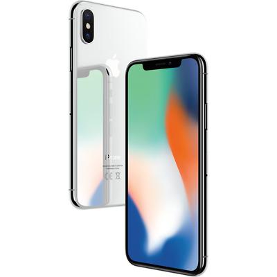 "Apple iPhone X 64GB Silber LTE iOS Smartphone ohne Simlock 5,8"" Display 12MPX"