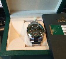 Rolex NIB Green Crystal Milgauss 116400GV Box/Papers $8,200 Retail 40MM