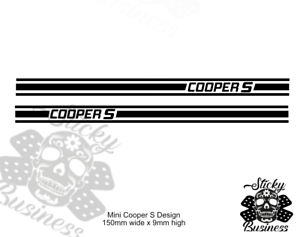 Mini Cooper OR 1275GT Decals Stickers 1//10 Scale Tamiya M03 M05 M07 19 COLOURS!