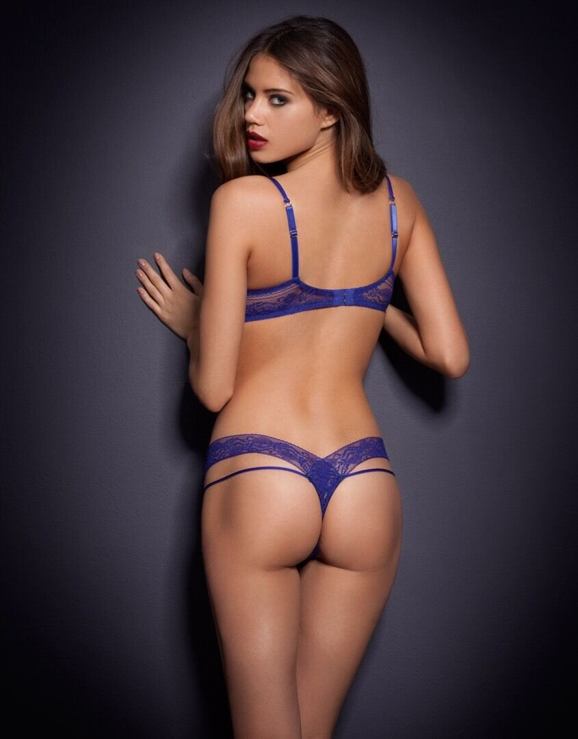 Agent Provocateur MARGOT Thong L 4 NWT bluee Orig. RARE