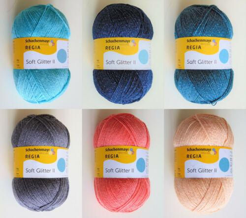 100g Sockenwolle- Garn-100g//7,99€ Regia -Soft Glitter Schachenmayr-4-fädig