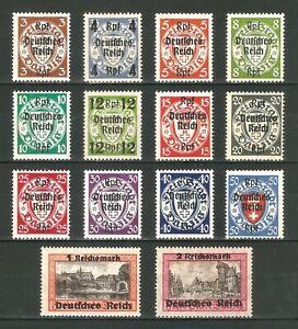 DR-Nazi-3rd-Reich-Rare-WWII-WW2-Stamp-Hitler-039-s-Danzig-Overprint-Deutsches-Reich