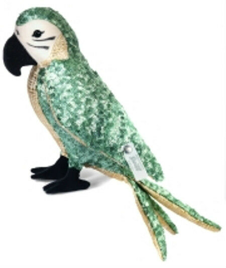 STEIFF   AVA PARROT  EAN O34862 PARADISE COLLECTION 2013  MINT COLOrosso SEQUINS