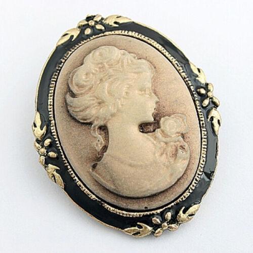 Neue Vintage Cameo elegante Brosche Pin Antik Hochzeit Charm Portrait Bros TG