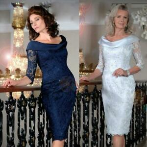 Elegant-Mother-of-the-Bride-Groom-Dresses-3-4-Sleeves-Knee-Length-Lace-Appliques