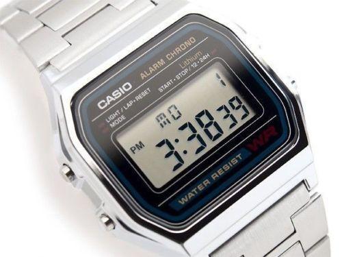 Reloj Casio A158wa 1 retro alarma cronometro