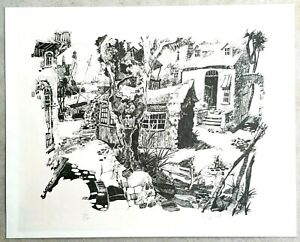 R-GARNETT-Hand-Signed-Limited-Edition-Print-Numbered-250-St-Augustine-Florida