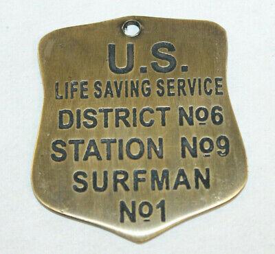 Vintage Style Brass US Life Saving Service Surfman Patrol Check Badge Replica