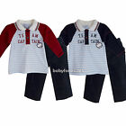New Baby Boys 2 Piece set Shirt Top & Pants Clothes outfit Size 3 6 9 12 months