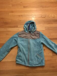 4491d5508 Details about The North Face Jacket Girl Hood Fuzzy Fleece Mint A0419 Size  XL