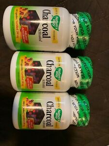 3 Pack Of Natures Way Premium Herbal Charcoal Activated Highly Adsorbent