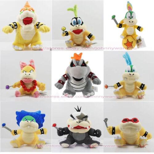 Super Mario Cute Dry Bowser Bones Morton Wendy Roy Larry Iggy Plush Toy select