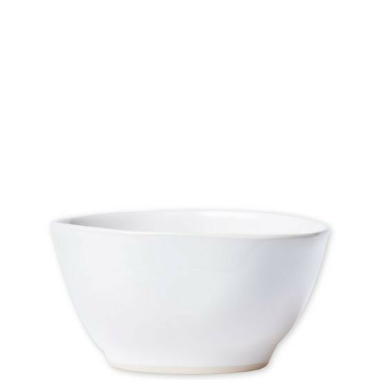 Vietri Aurora Snow Cereal Bowl Set of Two NEW