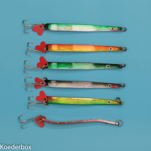 im Set ca 5 Stück Meerforellenblinker Küstenblinker 28 g S Bogen Blinker