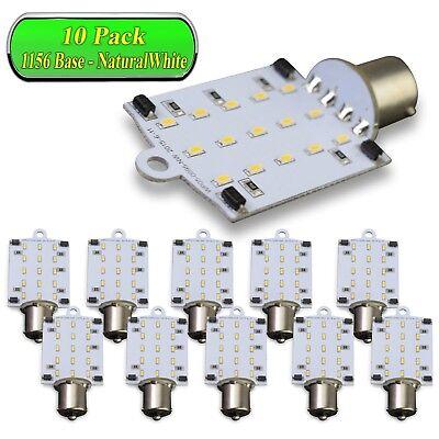 10 Pack Car RV White 1156 BA15S 5050 51smd LED Light Bulb 7503 1141 1073 4000K