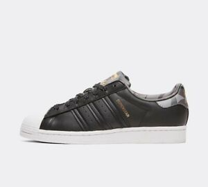 Men-039-S-TRAINER-ADIDAS-ORIGINALS-SUPERSTAR-Camo-Trainer-Core-Nero-stock-limitata