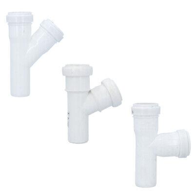 T-Stück Kunststoff HT-Rohr Installation Abwasser 50 32 mm Weiß Abzweig NEU