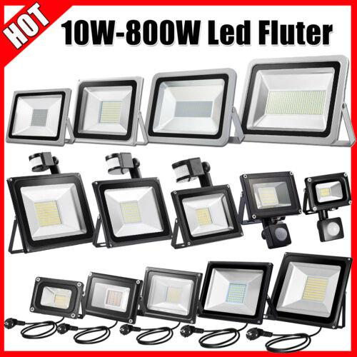 LED Fluter Strahler 10W 30W 50W 100W SMD Außen IP65 Scheinwerfer Flutlicht 230V