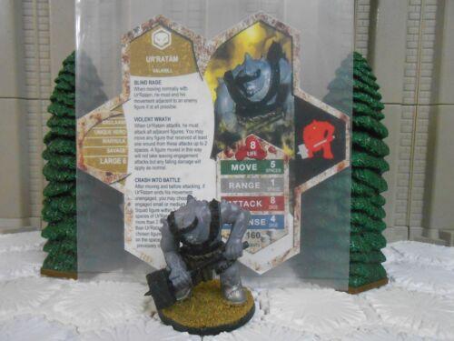 Heroscape Custom Ur'Ratam Double Sided Card & Figure w/ Sleeve Valkrill