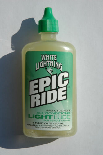 Bike Bicycle Cycle BMX Lubricant 4oz NEW! WHITE LIGHTNING Epic Ride Light Lube