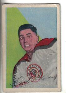 1952-53-vintage-Parkhurst-Hockey-Card-40-Freddy-Glover-Chicago-Black-Hawks-VG