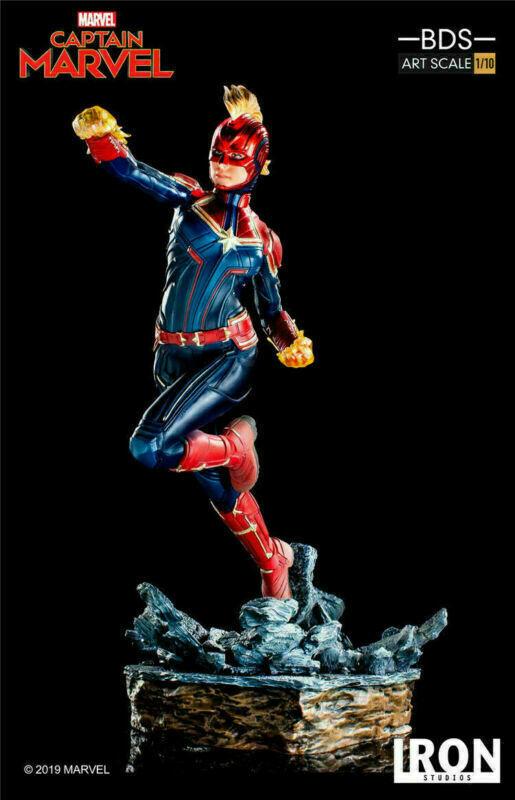 Iron Studios 1 10 SCALA CAPITANO Marvel Carol Danvers Figura Statua Modello Toys