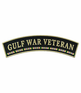 GULF WAR VET USA Flag Banner Top Rocker Patch