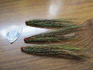 3 V Fly 1.5 Inch Brass Ultimate Gold Gunn Salmon Tube Flies /& Trebles