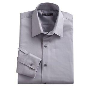 Marc anthony mens slim fit stretch spread collar dress for Tony collar dress shirt