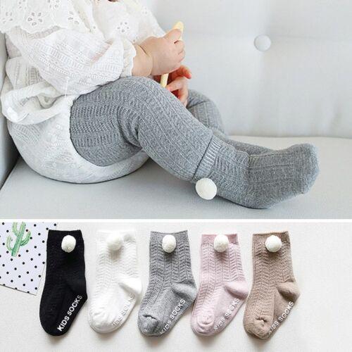 Soft Cotton Baby Socks Winter Pompom Ball Socks For Newborn Boy Girl Anti Slip