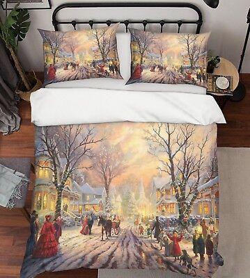3d Weihnachten Xmas 569 Bett Kissenbezüge Steppen Duvet Decken Set Single De Möbel & Wohnen Bettdecken- & Kopfkissen-sets