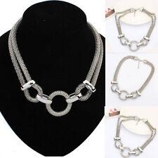 Mode Frauen Schmuck  Kette Anhänger Choker Chunky Bib Statement Halskette