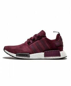 Details about Adidas Originals NMD R1 Sz:8.5 Women's S75231 Burgundy Maroon Suede Red Rare