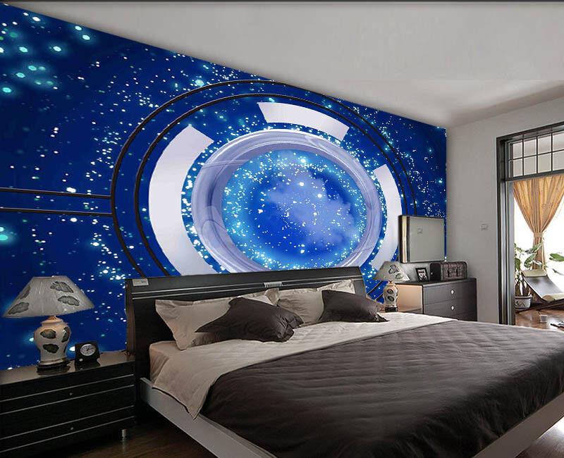 Decisive Dark Space 3D Full Wall Mural Photo Wallpaper Printing Home Kids Decor